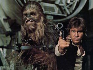 Han Solo and his epic sidekick Chewbacca.
